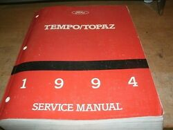 1994 FORD TEMPO MERCURY TOPAZ FACTORY FORD SHOP SERVICE MANUAL COMPLETE