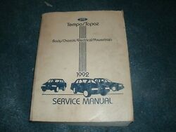 1992 FORD TEMPO MERCURY TOPAZ FACTORY COMPLETE SHOP SERVICE MANUAL