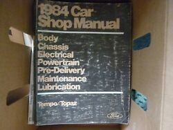 1984 FORD TEMPO MERCURY TOPAZ  SHOP MANUAL COMPLETE FACTORY FORD