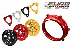 Cnc Racing Clutch Cover+spring Retainer+pressure Plate R For Ducati Panigale 959