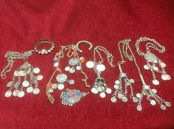 Assortment Of Antique Tribal Indian Kashmir Afghanistan Silver Jewellery