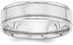 14k White Gold Heavy Comfort Fit Fancy Band Ring Wb109h