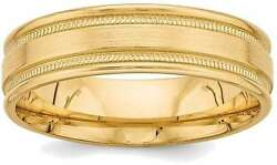 14k Yellow Gold Heavy Comfort Fit Fancy Band Ring Yb102h