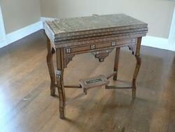 Stunning Hand Inlaid Game Table Late 19th Century