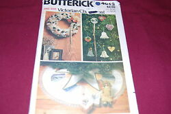 Butterick Vintage Pattern 4013 - Victorian Christmas Decorations - New