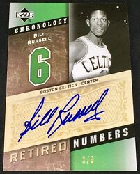 BILL RUSSELL 06-07 Upper Deck UD Chronology RETIRED NUMBERS AUTO AUTOGRAPH #26!