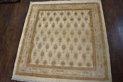 Antique Amritsar 4x4ft Oriental Wool Hand Knotted Rug  Circa 1880