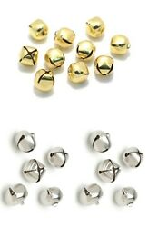 10 X 12mm Small Jingle Bells Gold Or Silver Decoration Charm Dancing Metal