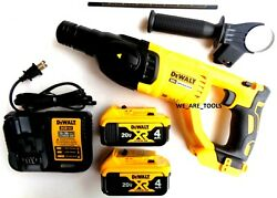 New Dewalt Dch133 20v Sds 1 Rotary Hammer Drill,2 Dcb204 4.0 Battery, Charger