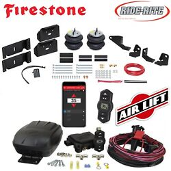 Firestone Ride Rite Air Bags Airlift Air Compressor For 17-21 Ford F250 F350 2wd