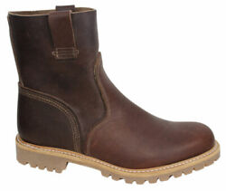 Boot Company Mens Slip On Pull Up Brown Leather Boots A132h B7c