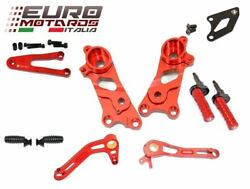 Ducati Scrambler 2014-2016 Ducabike Rearsets Kit For Rider Red New
