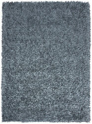 Rizzy Rugs Blue Frilles Plush Fluffy Thick Shag/flokati Area Rug Solid Km1558