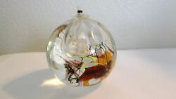 Ges Glass Eye Studio 2002 Oil Lamp/paperweight, Clear, Dicroic, Multi Color