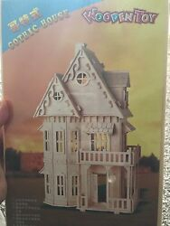 Nip Gothic Doll House 3d Jigsaw Woodcraft Kit Wooden Puzzle