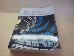 Applied Calculus And Statistics For Management Tan / Weiers Thompson Brooks