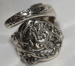 Antique Sterling Spoon Ring Gorham Versailles Size 7 Free Shipping