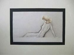 Louis Icart Original Etching Hand Signed Limited Edition Full Breasts 1945