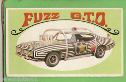 D298. 1970 Scanlens Way-out Wheels Large Card 5 Fuzz Gto