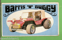 D298. 1970 Scanlens Way-out Wheels Large Card 9 Barris T Buggy
