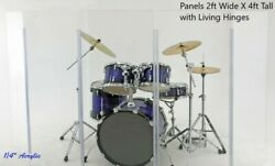 Acrylic Drum Shield Drum Screen Ds3 L Five Panels 2' X 4' With Living Hinges
