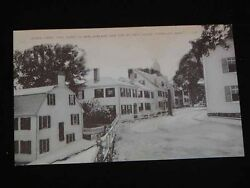 Antique Postcard - Leden Street Plymouth Ma. First Street In New England C1920