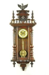 Gorgeous Antique Spring Driven Wall Clock With Musicbox Approx.1910