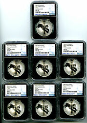 2017 5 Canada 1oz Silver Lynx Ngc Ms70 Rare First Release Complete Set Lot Of 7