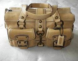 Coach 65th Anniversary Iconic Legacy Camel Leather Tote Bag Purse Satchel Euc