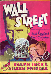 Wall Street-vintage Paperback Columbia Pictures Movie Tie In-1930-first Printing
