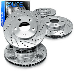 For 2000 Subaru Legacy Front Rear eLine Drill Slot Brake Rotors