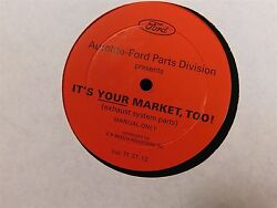 1971 1972 Ford Dealership Its Your Market Too Exhaust Parts Record Rare Orig