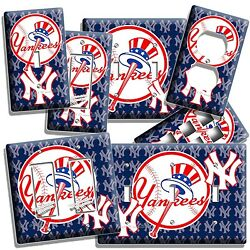 New York Yankees Baseball Team Light Switch Outlet Wall Plate Cover Room Decor
