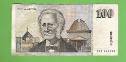 D247. 100 Paper Johnston /fraser Banknote Zdz 640290 Circulated 1985 Type