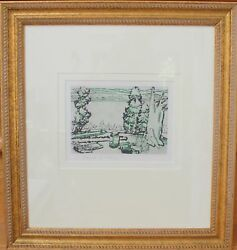David Milne Original Drypoint Etching Hand Signed Painting Place 1931 Framed