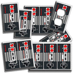 VIDEO GAME CONTROLLER CLASSIC NINTENDO NES LIGHT SWITCH OUTLETS ROOM WALL DECOR