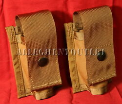 Lot Of 2 Usgi Single 40mm He High Explosive/grenade Molle Pouch New Coyote
