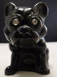 Westmoreland   French Bulldog Glass Figurine Marked WG on Chest Exc!