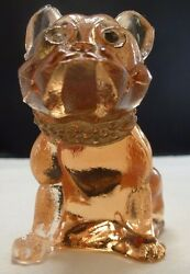 Westmoreland  French Bulldog Glass Figurine    early 1940's  clear eyes ?