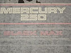 New Oem Outboard Motor Mercury 250 Black Max Decal As Shown In Picture