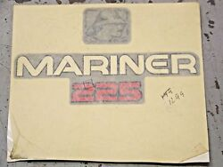 New Oem Outboard Motor Mariner 225 Decal As Shown In Picture