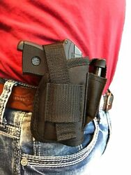 Kel-Tec P-32P-3AT  AMBIDEXTROUS BELT CLIP HOLSTER WITH EXTRA-MAGAZINE POUCH