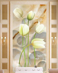 3D Plain Blooming Lily Porch Wall Paper Wall Print Decal Wall Deco AJ WALLPAPER