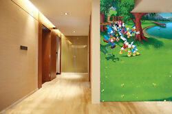 3D Riverside Cheerful Anime Wall Paper Wall Print Decal Wall Deco AJ WALLPAPER
