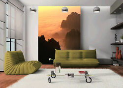 3D Billowing clouds mountain Wall Paper Wall Print Decal Wall Deco AJ WALLPAPER