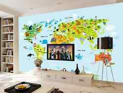 3d Entire Hometown Map Animal Wall Paper Wall Print Decal Wall Deco Aj Wallpaper