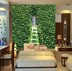3D Dense green leaves ladder Wall Paper Wall Print Decal Wall Deco AJ WALLPAPER