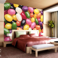 Huge 3d Sweet Candy Wall Paper Wall Print Decal Wall Deco Indoor Wall Murals
