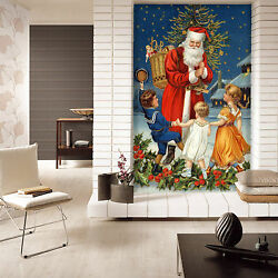 Mega 3d Father Christmas 565 Wall Paper Wall Print Decal Wall Deco Indoor Wall