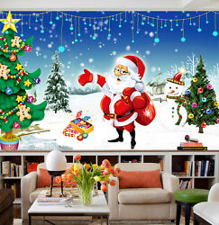 3d Father Christmas Present 22 Wall Paper Wall Print Decal Wall Deco Indoor Wall